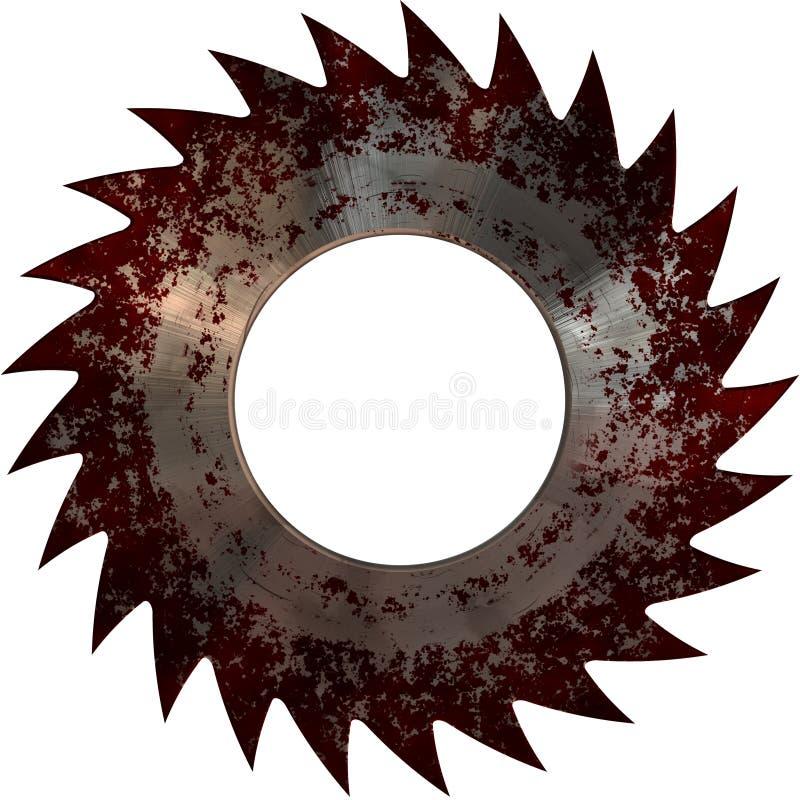 Диск крови круглой пилы стоковое фото