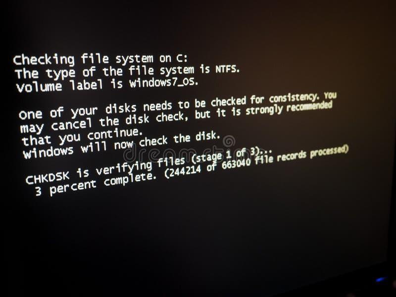 Диск проверки Windows стоковое фото rf