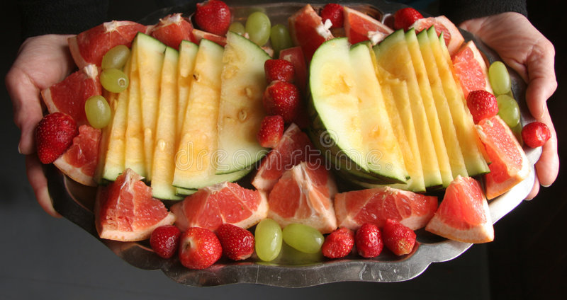 диск свежих фруктов стоковые изображения rf