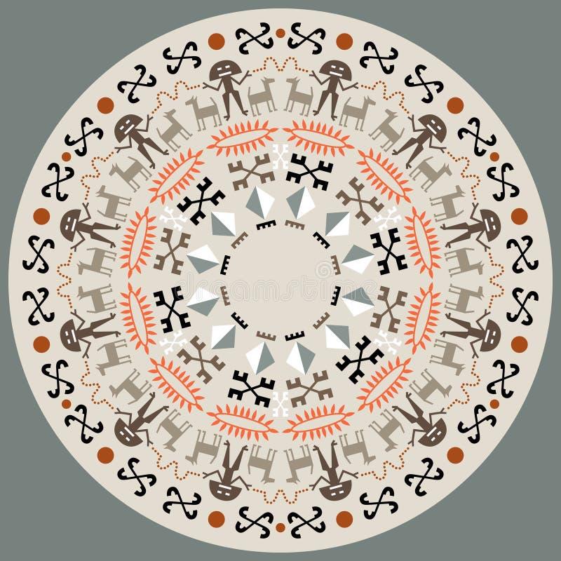 Диск с аборигенным искусством иллюстрация штока