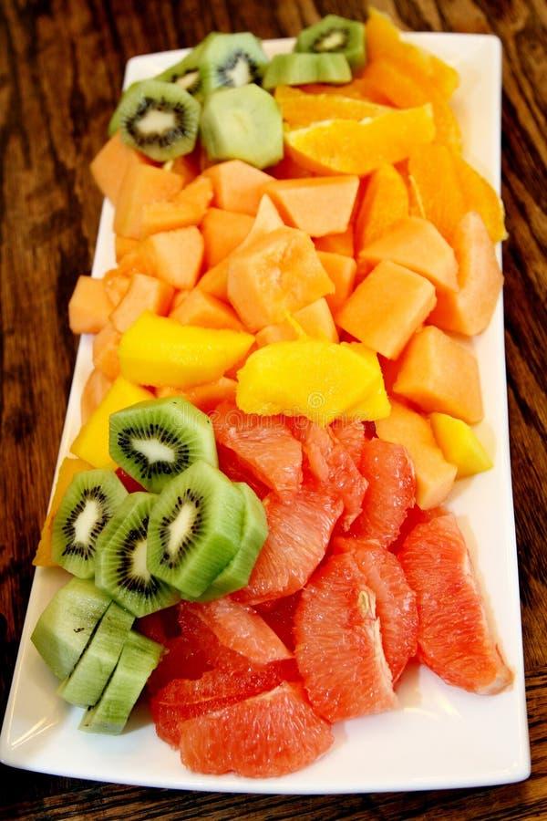 Диск фруктового салата стоковое изображение