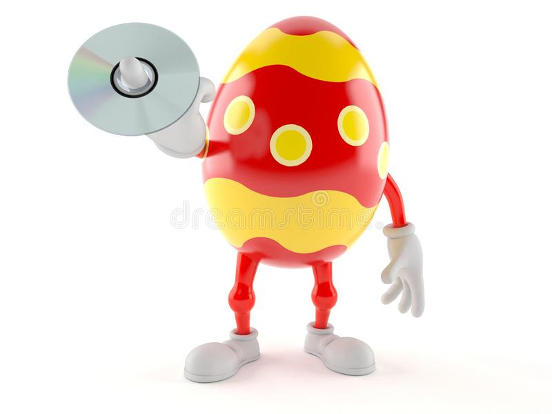 Диск CD удерживания характера пасхального яйца иллюстрация штока
