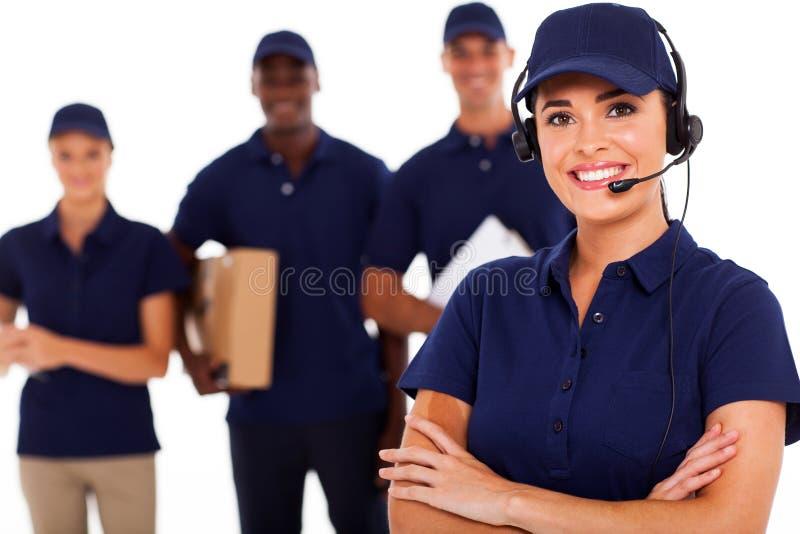 Диспетчер курьерского сервиса стоковое изображение rf