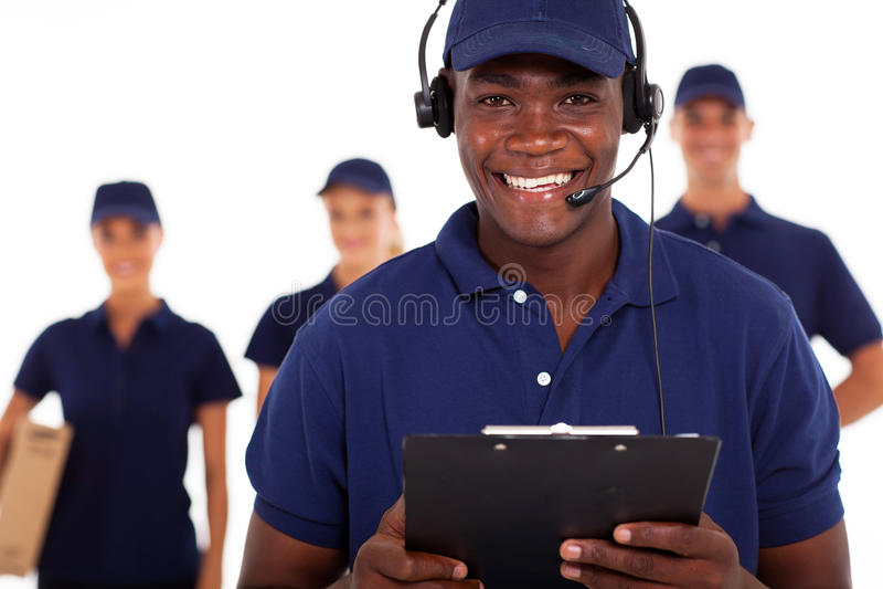 Диспетчер курьерского сервиса стоковое фото