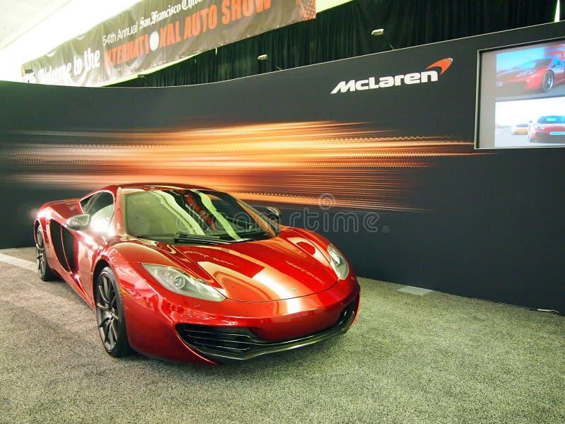 дисплей автомобиля c12 mclaren спорты стоковые фото