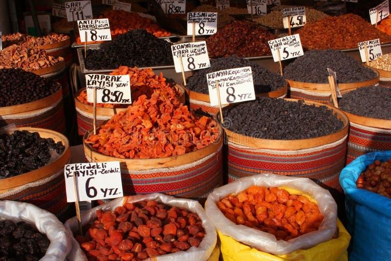 дисплей базара закусок стоковое фото