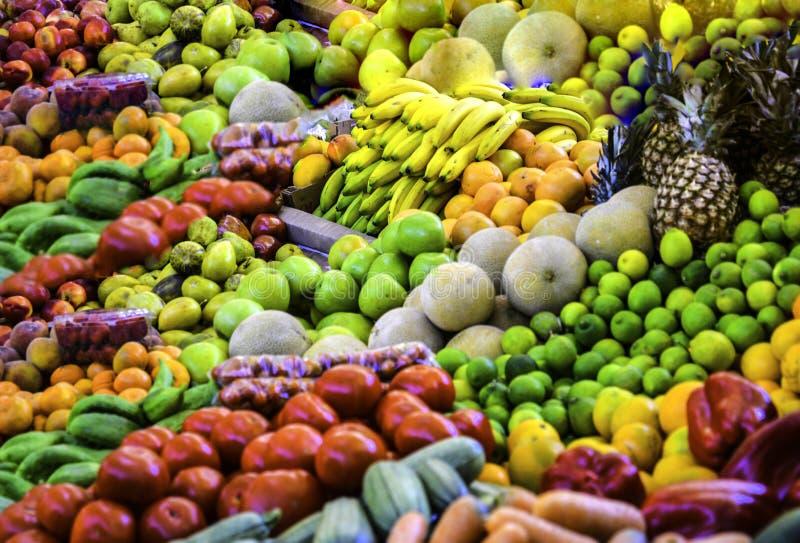 Дисплей плода, рыночное месте, Коста-Рика, Центральная Америка стоковые изображения