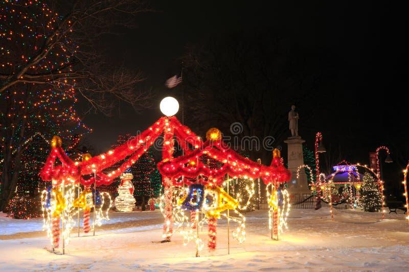 Дисплей carousel рождества стоковое фото rf