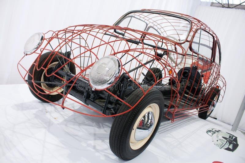 дисплей volkswagen жука стоковое изображение rf