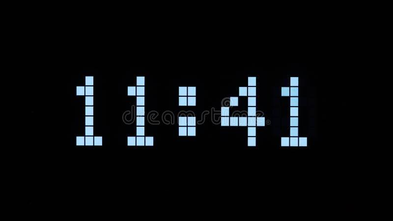 Дисплей времени цифров иллюстрация штока