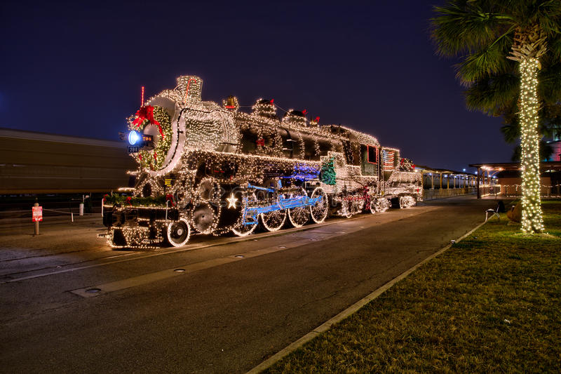 Дисплей рождества Сан Антонио - паровой двигатель 794 стоковые изображения rf