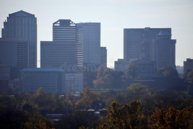 Дистантный городской взгляд Нашвилл стоковые фотографии rf