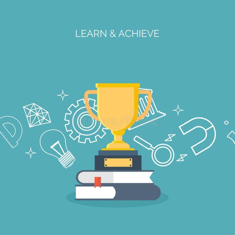 Дистанционное обучение, уча Онлайн курсы и школа сети Данные по знания Процесс исследования Воспитательное управление иллюстрация штока