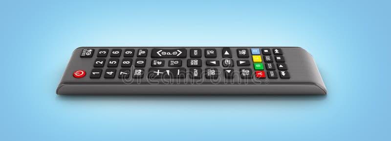 Дистанционное управление ТВ изолированное на голубой предпосылке 3d gra бесплатная иллюстрация