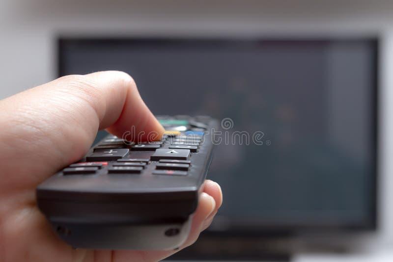 Дистанционное управление телевидения стоковое фото rf