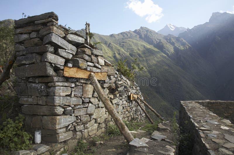 дистанционные руины стоковое изображение