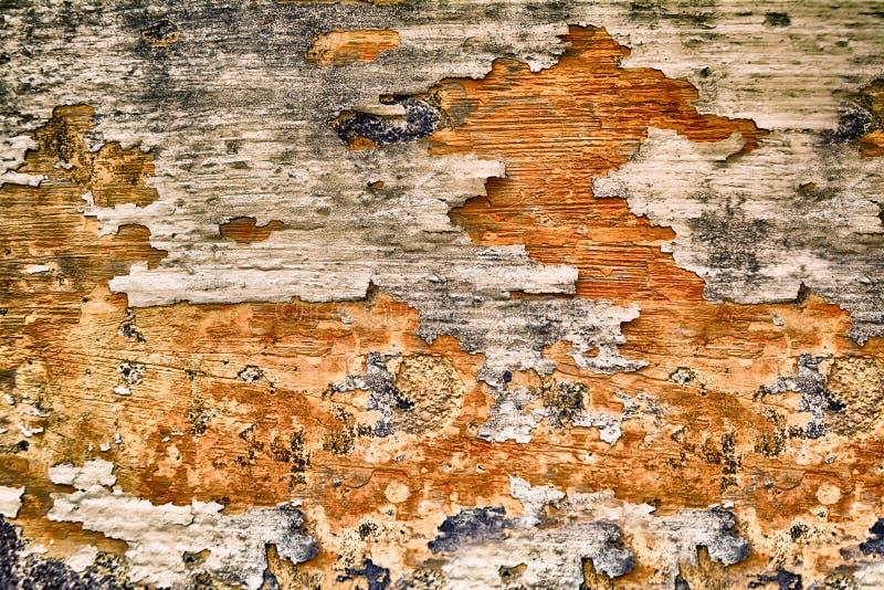 Дистресс старого винтажного grunge коричневый и серый бетонной стены искусства стоковая фотография rf