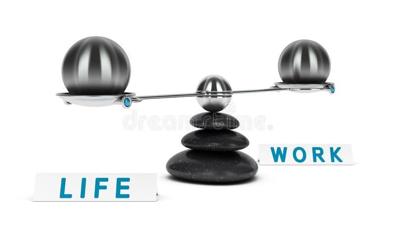 Дихотомия баланса работы и жизни иллюстрация штока