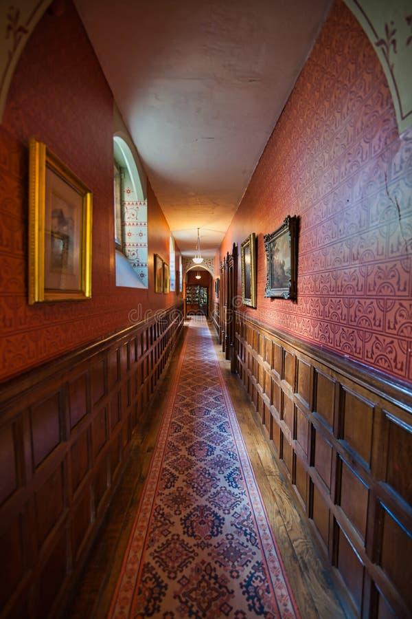 Длинная зала на Knightheyes стоковое фото rf