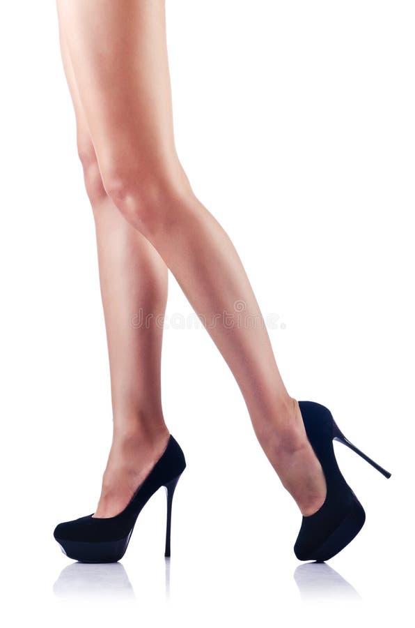 Длинние ноги женщины стоковая фотография rf