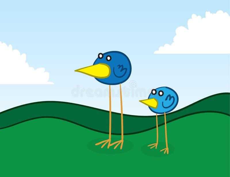 Длинние legged птицы иллюстрация вектора
