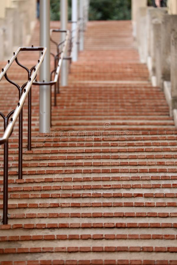 Длинные лестницы со слишком много шагов в Монте-Карло стоковые изображения rf