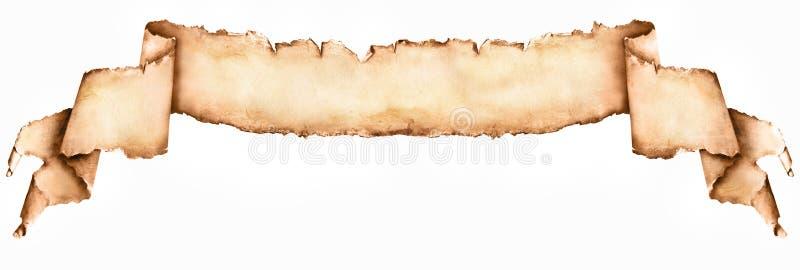 Длинный винтажный бумажный перечень изолированный на белизне стоковые изображения rf
