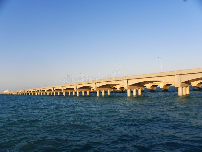 Длинный док больших сводов в порте Progreso, Юкатана стоковое изображение