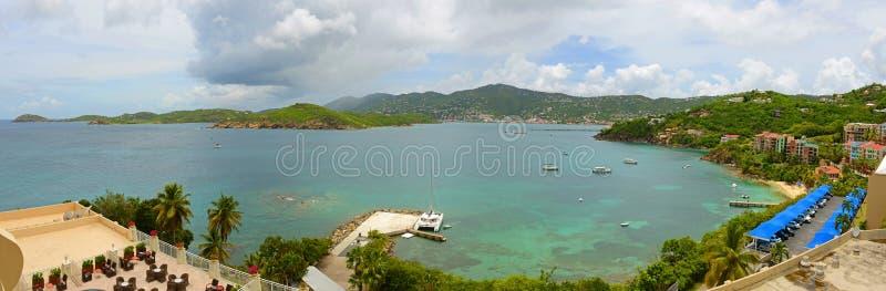 Длинный залив на острове St. Thomas, США Виргинских островах, США стоковые фотографии rf