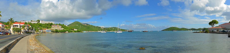 Длинный залив, St. Thomas, США Виргинские острова, США стоковое изображение rf