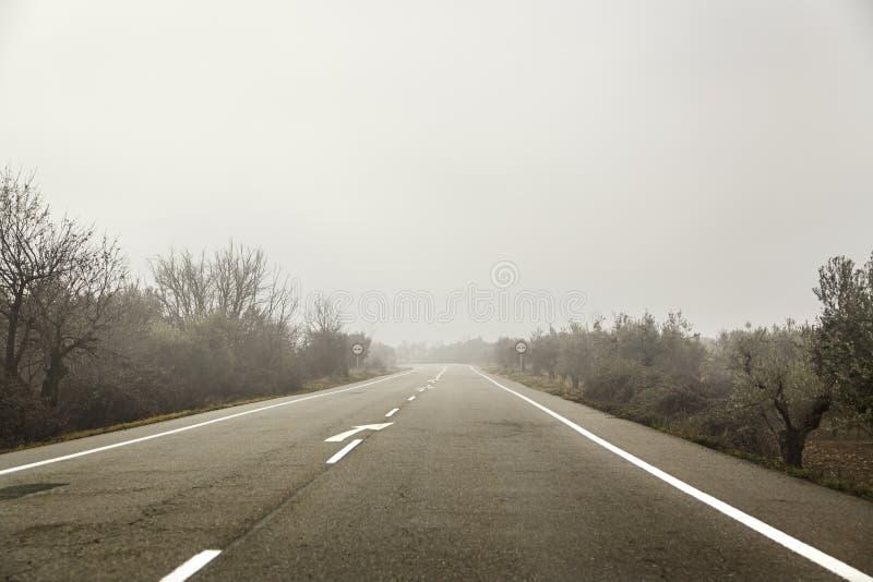 Длинный путь на бурный день стоковые изображения rf