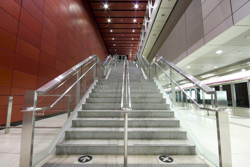 длинняя лестница стоковая фотография