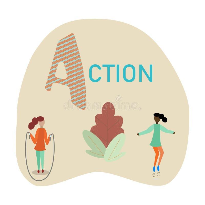 A для действия иллюстрация вектора