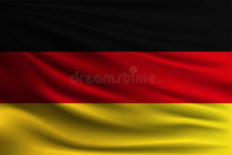 The national flag. Of Germany. The symbol of the state on wavy cotton fabric. Realistic vector illustration vector illustration