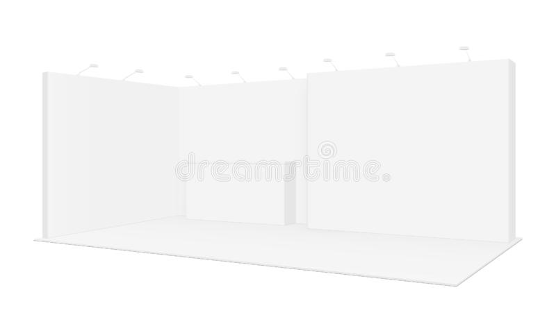 Exhibition booth mockup stock vector  Illustration of background