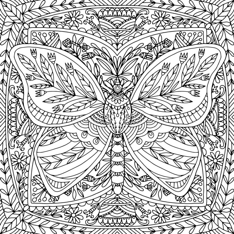 Butterfly Flowers Coloring Pages Stock Illustrations 148 Butterfly Flowers Coloring Pages Stock Illustrations Vectors Clipart Dreamstime
