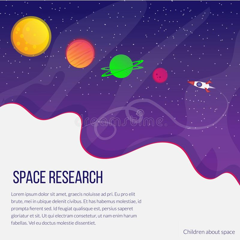 cosmos and bright planets royalty free illustration