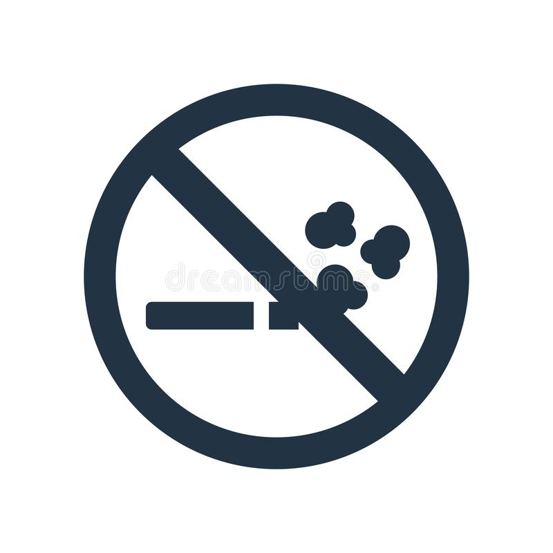 Для некурящих вектор значка изолированный на белой предпосылке, для некурящих знаке бесплатная иллюстрация