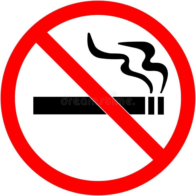 Для некурящих знак Запрещенный значок знака изолированный на прозрачной иллюстрации вектора предпосылки иллюстрация штока