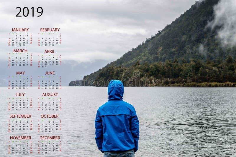 2019 для самого лучшего календаря стоковое изображение