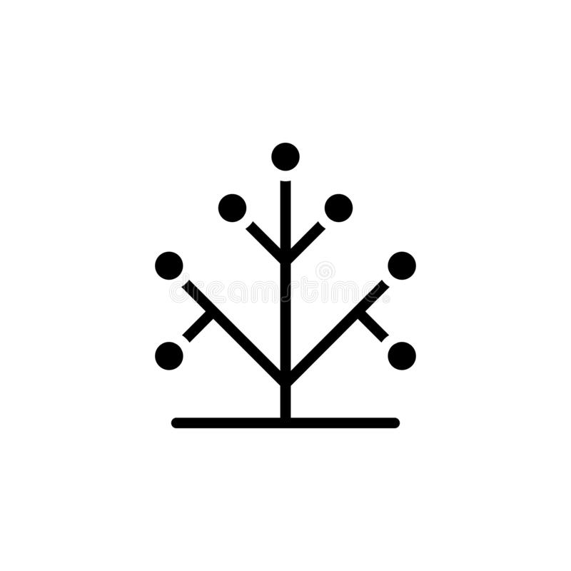 Дна, генетический значок - дерево с зелеными листьями иллюстрация вектора