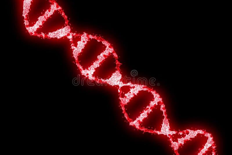 Дна красного цвета цифров голографическое на черной предпосылке иллюстрация штока