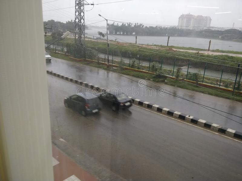 Дневники дождя муссона стоковая фотография rf
