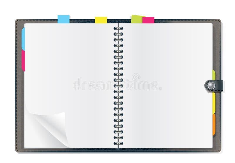 дневник открытый иллюстрация штока