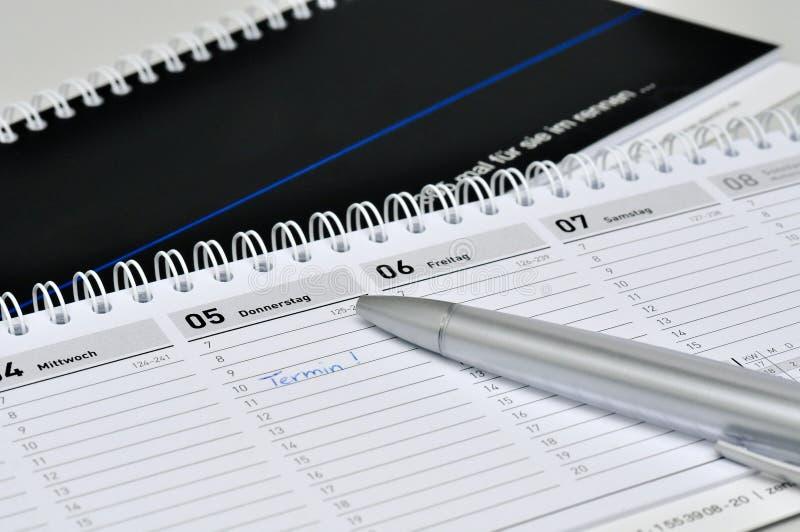 Дневник стола стоковое изображение