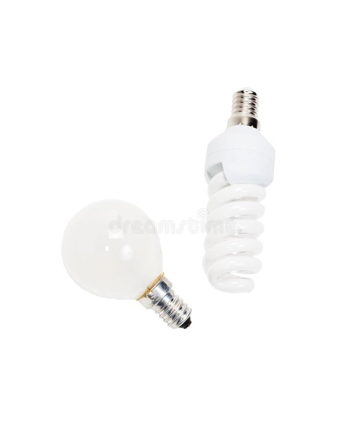 Дневной и лампа накаливания стоковое изображение rf
