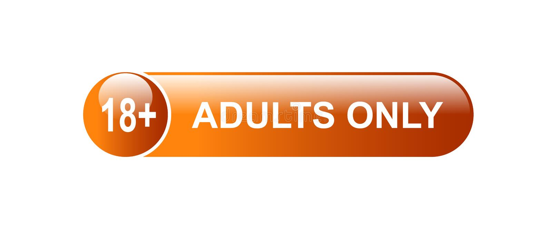 18 добавочных взрослых только иллюстрация вектора