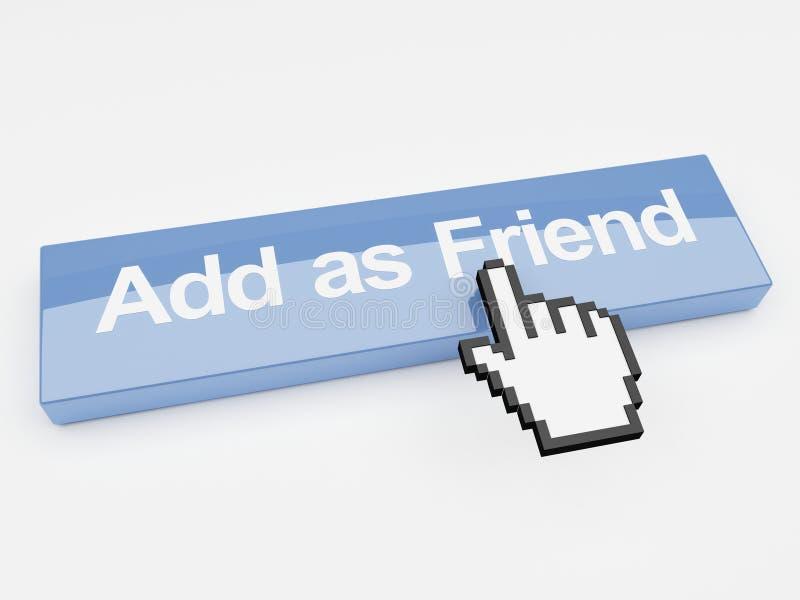 добавьте как social сети друга кнопки иллюстрация штока