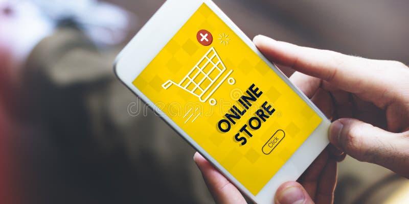 Добавьте концепцию графика коммерции покупки тележки теперь онлайн стоковая фотография rf