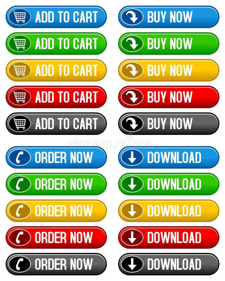 Добавьте к кнопкам покупкы тележки теперь иллюстрация вектора